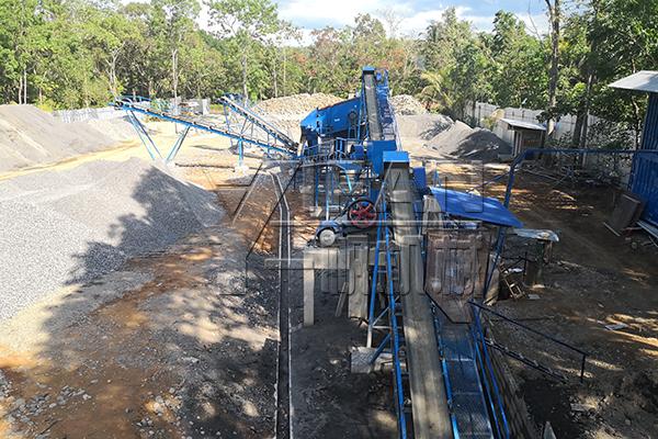 river pebble production line